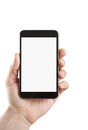Blank Smart Phone With Clipping Path Stock Photography - 24220442
