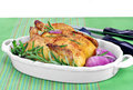 Roasted Game Hen Royalty Free Stock Image - 24221896