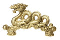 Golden Dragon Figurine Royalty Free Stock Image - 24224656