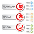Button - Download, Reload, Upload Royalty Free Stock Photo - 24227265
