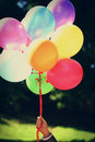 Holiday Colorful Air Balloons In A Hand Stock Photo - 24233920