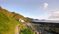 Path To White Cottage On A Coast - Niarbyl Royalty Free Stock Photo - 24235485