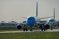 Airplane On The Runway Stock Photography - 24236362