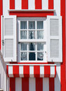 Typical Decorated Window In Costa Nova Royalty Free Stock Image - 24248276