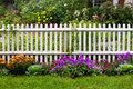 White Picket Fence Royalty Free Stock Images - 24267519
