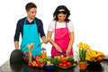 Couple Cooking Royalty Free Stock Photography - 24271887