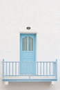 Blue Door And Terrace Stock Photography - 24277042