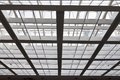 The Metal And Glass Roof Stock Image - 24289321