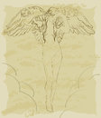 Vintage Angel Royalty Free Stock Photography - 24297347