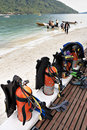 Scuba Gear And Tanks Royalty Free Stock Image - 2437016