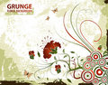 Grunge Floral Background Royalty Free Stock Photo - 2438685