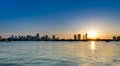 Downton Miami Sunset Royalty Free Stock Photography - 24301327