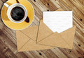 Blank Letter With The Envelope On Coffee Table Royalty Free Stock Photos - 24303808
