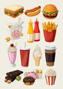 Fast Food Icons Royalty Free Stock Photo - 24307615