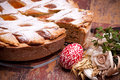 Homemade Pastiera And Painted Egg Stock Photo - 24320920