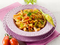 Pasta With Zucchinis Flower Royalty Free Stock Photography - 24327987