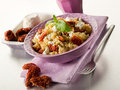 Brown Rice With Ricotta And Tomatoes Stock Photos - 24328893