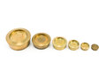 Brass Weights Of Different Size Stock Image - 24338441