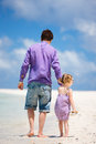 Father And Daughter At Beach Royalty Free Stock Images - 24343139