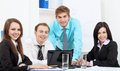 Young Business People In Office Royalty Free Stock Image - 24350376