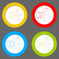 One Two Three Four - Vector Progress Icons Stock Photos - 24351643