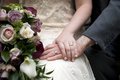 Wedding Couple Detail Hand And Ring Shot Royalty Free Stock Images - 24358999