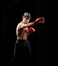 Boxer With Suspenders Stock Photos - 24360043