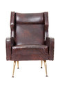 Brown Leather Armchair Royalty Free Stock Image - 24366506