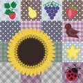 Patchwork Background With Different Patterns Royalty Free Stock Image - 24369196