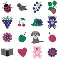 Scrapbook Objects On White Background Royalty Free Stock Image - 24369376