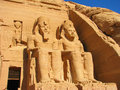 Front View Of Temple Of King Ramses II Royalty Free Stock Photography - 24370407