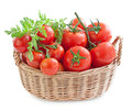 Tomatoes In A Basket Stock Photo - 24391720