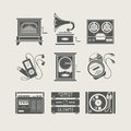 Musical Device Set Of Icon Royalty Free Stock Photos - 24396868
