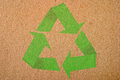 Natural Background With Recycle Symbol Royalty Free Stock Photo - 24398695