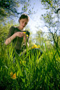 Woman In Summer Grass Royalty Free Stock Image - 2444226