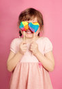 Little Girl With Lollipop Royalty Free Stock Photos - 24408178