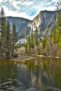 Yosemite River And Upper Falls HDR Royalty Free Stock Images - 24408479