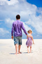 Father And Daughter At Beach Royalty Free Stock Photo - 24409595