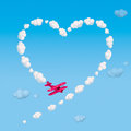 Skywriting A Heart Royalty Free Stock Photography - 24417667