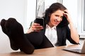Businesswoman Relaxing At The Office Royalty Free Stock Image - 24428416