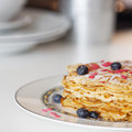 Waffles On A Plate Royalty Free Stock Photos - 24431218