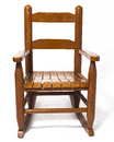 Childs Rocking Chair  White Stock Image - 24431981