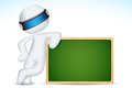 3d Man With Chalk Board Stock Photography - 24433082