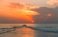 Sundown At The Beach Royalty Free Stock Images - 24433599