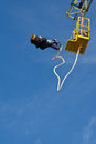 Couple Bungee Jumping Royalty Free Stock Photo - 24435165
