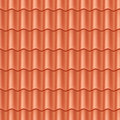 Seamless Terracota Roof Tile. Royalty Free Stock Image - 24436946