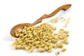 Wooden Spoon And Cedar Nutlets Royalty Free Stock Images - 24442379