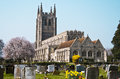 Old Church With Graveyard England Stock Photo - 24447310
