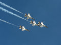 US Air Force Thunderbirds In Flight Stock Images - 24451024