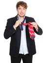 Man Tying A Tie - Funny Stock Image - 24451531